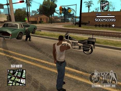 C-HUD By Kapo para GTA San Andreas quinto tela