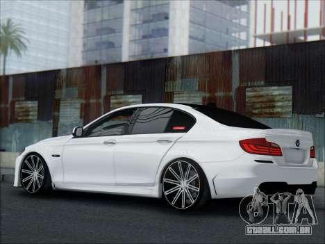 BMW 550 F10 VOSSEN para GTA San Andreas vista superior