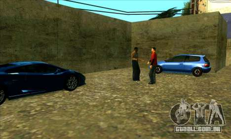 Serviço de carro do centro da Sijia em Las Ventu para GTA San Andreas terceira tela