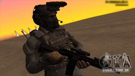 Sgt Keegan P.Russ из Call Of Duty: Ghosts para GTA San Andreas por diante tela