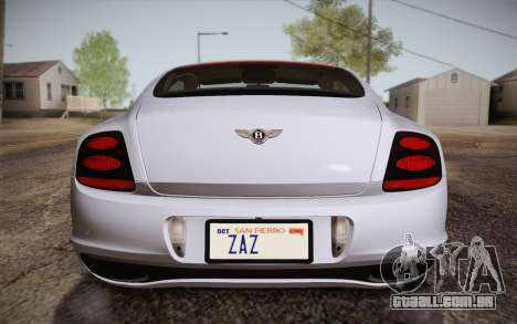 Bentley Continental SuperSports 2010 v2 Finale para GTA San Andreas vista superior