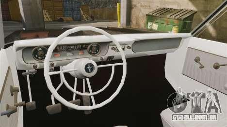 Ford Falcon 1963 para GTA 4 vista de volta
