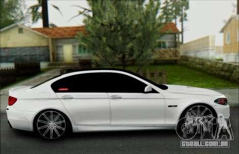 BMW 550 F10 VOSSEN para GTA San Andreas vista interior