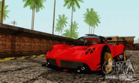 Pagani Zonda Type R Red para GTA San Andreas esquerda vista
