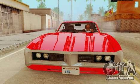 GTA 4 Imponte Dukes V1.0 para GTA San Andreas traseira esquerda vista