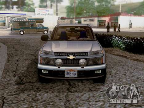 Chevrolet Colorado para GTA San Andreas traseira esquerda vista