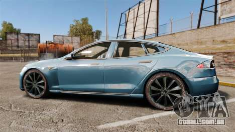 Tesla Model S para GTA 4 esquerda vista