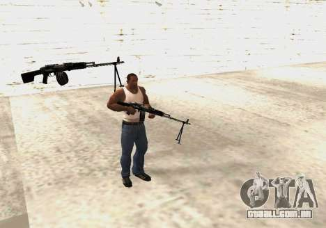 RPK-203 para GTA San Andreas sexta tela