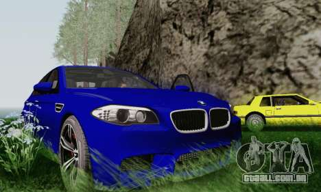 BMW F10 M5 2012 Stock para vista lateral GTA San Andreas