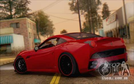 Ferrari California v2 para GTA San Andreas traseira esquerda vista