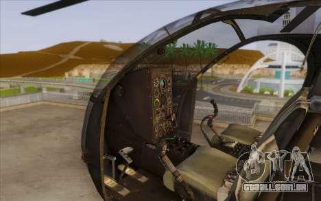 MH-6 Little Bird para GTA San Andreas vista direita