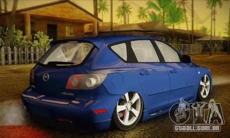 Mazda Axela Sport 2005 para GTA San Andreas esquerda vista