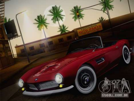 BMW 507 1959 Stock para GTA San Andreas vista traseira