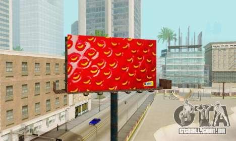 Novo de alta qualidade publicidade em cartazes para GTA San Andreas nono tela