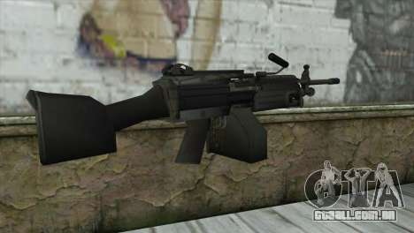 M249 SAW Machine Gun para GTA San Andreas segunda tela