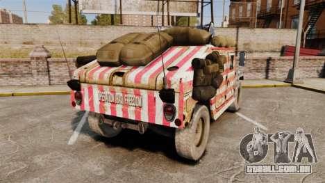 HMMWV M1114 Freedom para GTA 4 traseira esquerda vista