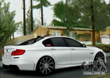 BMW 550 F10 VOSSEN para GTA San Andreas traseira esquerda vista