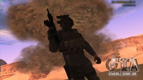 Sgt Keegan P.Russ из Call Of Duty: Ghosts para GTA San Andreas terceira tela