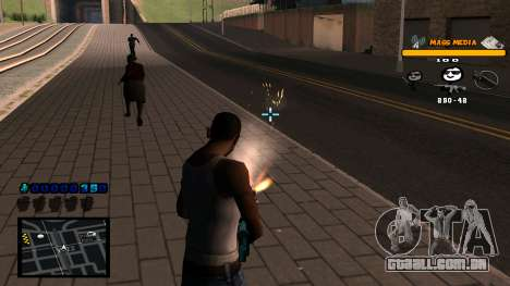 C-HUD Mass Media para GTA San Andreas por diante tela