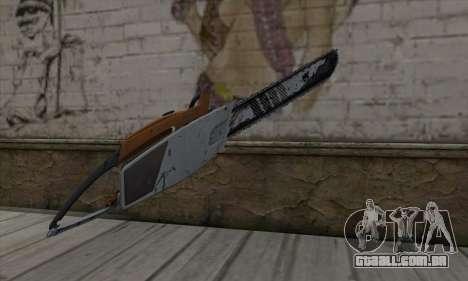 Chainsaw para GTA San Andreas segunda tela