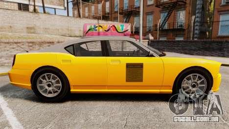 Bravado Buffalo Taxi para GTA 4 esquerda vista