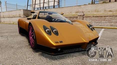 Pagani Zonda C12 S Roadster 2001 PJ2 para GTA 4