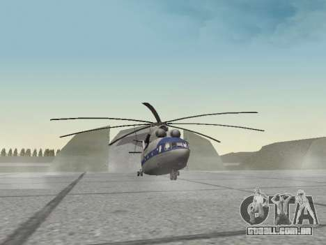 Mi 26 Civil para GTA San Andreas esquerda vista