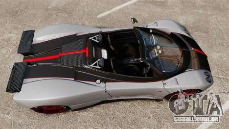 Pagani Zonda C12 S Roadster 2001 PJ5 para GTA 4 vista direita