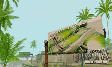 Novo de alta qualidade publicidade em cartazes para GTA San Andreas oitavo tela