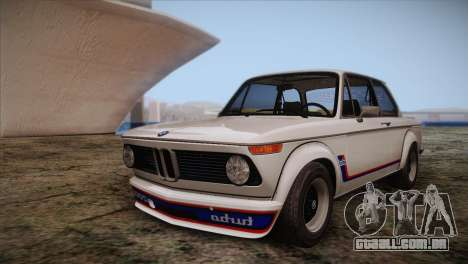 BMW 2002 1973 para GTA San Andreas vista superior