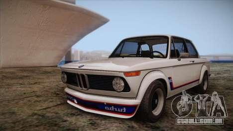 BMW 2002 1973 para GTA San Andreas vista superior