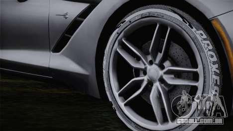 Chevrolet Corvette C7 para GTA San Andreas traseira esquerda vista