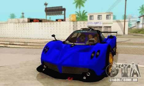 Pagani Zonda Type R Blue para GTA San Andreas vista traseira