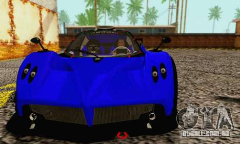 Pagani Zonda Type R Blue para GTA San Andreas esquerda vista