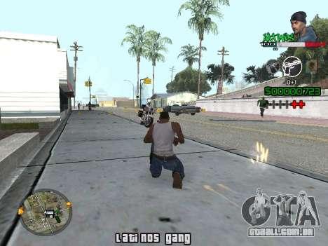 C-HUD Latinos by K.D para GTA San Andreas segunda tela