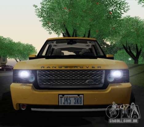 Range Rover Supercharged Series III para GTA San Andreas vista traseira