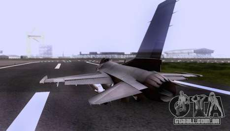 F-16 A para GTA San Andreas vista interior