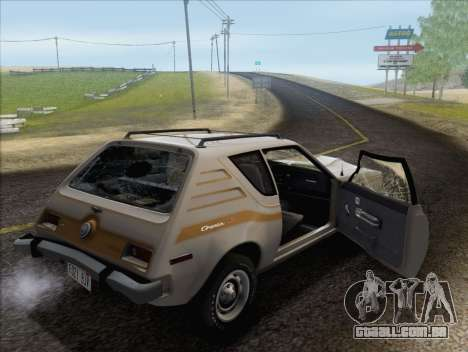 AMC Gremlin X 1973 para GTA San Andreas vista inferior