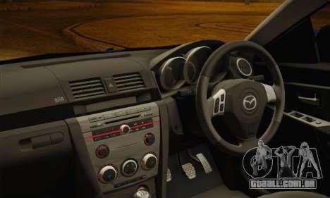 Mazda Axela Sport 2005 para GTA San Andreas vista direita