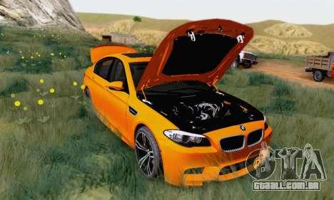 BMW F10 M5 2012 Stock para GTA San Andreas esquerda vista