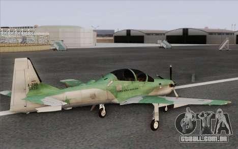 Embraer A-29B Super Tucano para GTA San Andreas esquerda vista