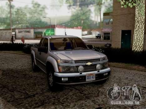 Chevrolet Colorado para GTA San Andreas esquerda vista