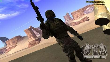 U.S. Navy Seal para GTA San Andreas sexta tela