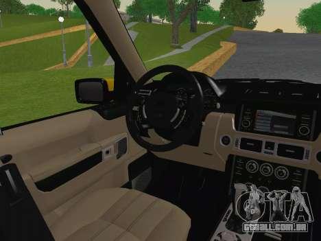 Range Rover Supercharged Series III para GTA San Andreas vista inferior