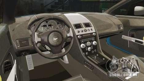 Aston Martin V12 Vantage S 2013 [Updated] para GTA 4 vista interior