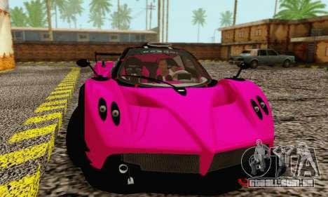 Pagani Zonda Type R Pink para GTA San Andreas esquerda vista
