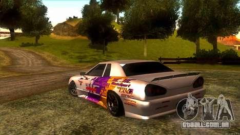 Elegy JIC Magic para GTA San Andreas traseira esquerda vista