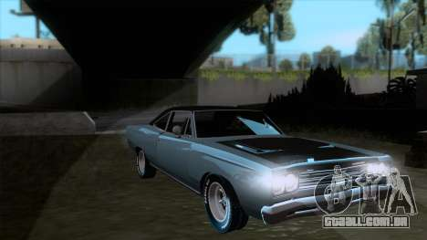 Plymouth Road RunneR 1969 para GTA San Andreas vista traseira