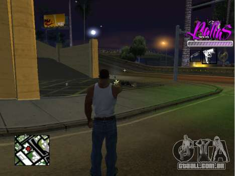 New HUD Ballas Style para GTA San Andreas