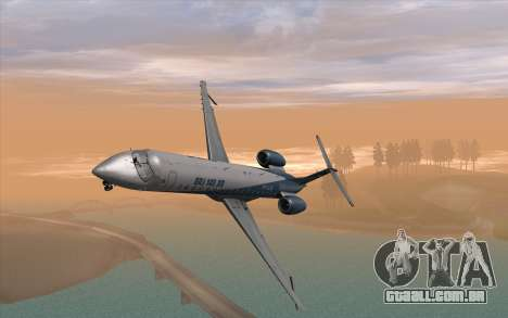 Embraer 145 Xp para GTA San Andreas vista direita